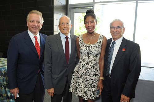 Dean Puliafito, Ken Kleinberg, Natalie Cole and Dr. Edward Crandall