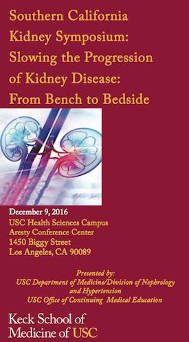 2016 USC Kidney Symposium