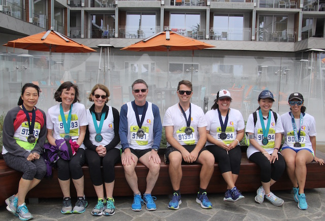 UKRO LA Marathon charity relay teams