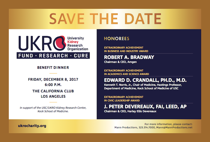 UKRO 2017 Dinner Save the Date