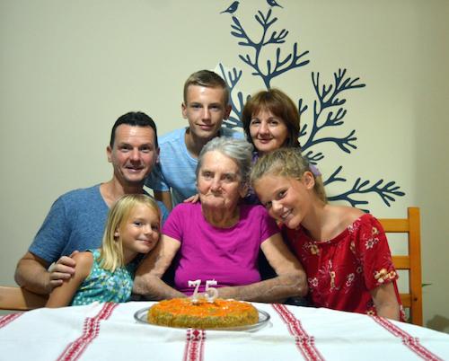 Janos Peti-Peterdi and family